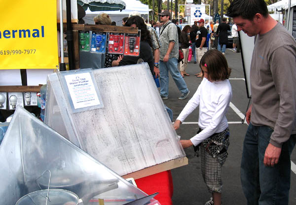 The first public demonstration of the ClearDome Solar Still Water Purifier at San Diego's EarthFair 2007