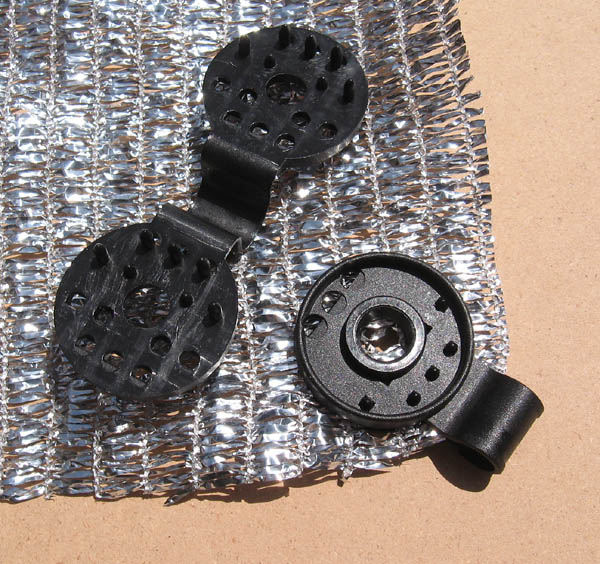 Our new durable reusable plastic grommets for both fabrics
